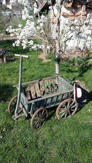 Leiterwagen - Handwagen - Holzwagen aus früherer