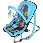 Zekiwa Babywippe happy flower pink blau