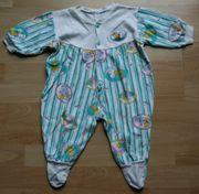 Weiß-bunter Schlaf-Strampler - Größe 74 - Schlafanzug -