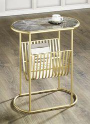 Beistelltisch mit Marmorplatte Nachttisch Konsolentisch