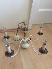 Deckenlampe Lüster 5 Arme Weiss -