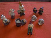 verschiedene Herbstfiguren aus Steinzeug