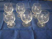 6 neue Cognac Kristallgläser von