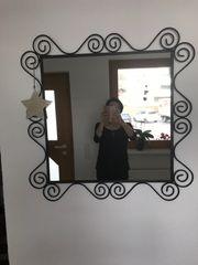 Spiegel schwarz Metall