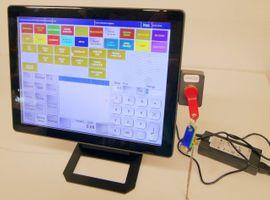 Gastronomie, Ladeneinrichtung - Gastrokasse Kassensystem 15 Touchkasse Bondrucker