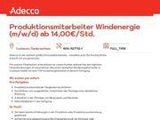 Produktionsmitarbeiter Windenergie m w x