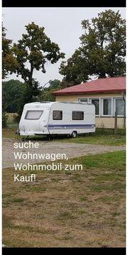 suche Wohnwagen oder Wohnmobil zum