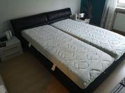 Leder-Doppelbett mit Bettkasten Marke Ruf