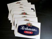 15 Aufkleber Rothmans TEAM 80