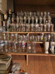 Weizengläser und Biergläsern Sammlung
