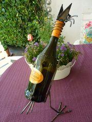 Wein-Flaschen-Halter Motiv Vogel