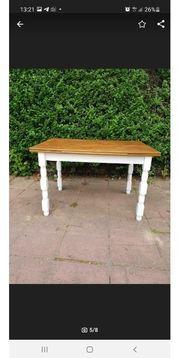 Tisch vintage Esstisch Holztisch Vollholz