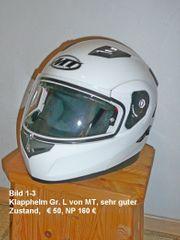 Klapphelm Motorradjacke Motorradhose Rearbag Stiefel