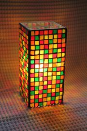 Lampe Mosaik Handarbeit