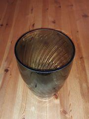 Glas Vase Unikat schwarz Glasübertopf