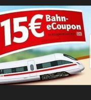 Deutsche Bahn Gutschein 15EUR Wert