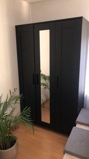 Ikea Brimnes Kleiderschrank schwarz