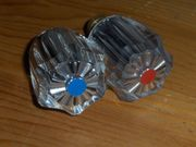 2 x Hahnoberteil Drehknopf Ventiloberteil