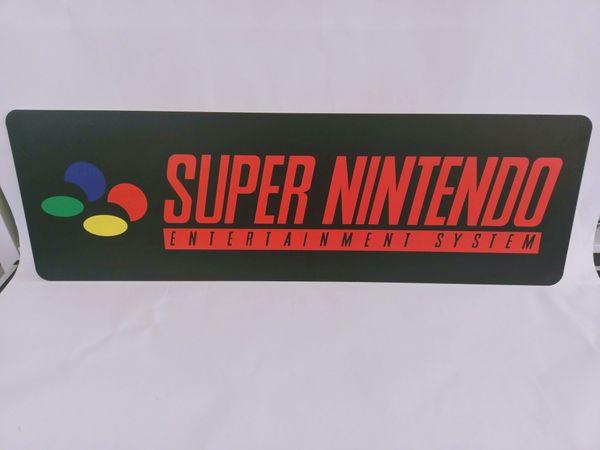 Nintendo SNES Werbeschild Kunststoff Schwarz