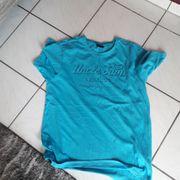 Herren T-Shirt blau Uncle Sam