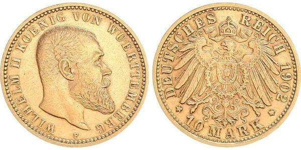 Zehn Mark Goldmünze 1902 F Wilhelm II. - Hofbieber - Zehn Mark Goldmünze 1902 F Wilhelm II. - Hofbieber
