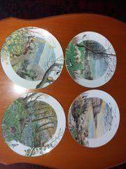 Sammelteller Wandteller Royal Worcester Porzellan