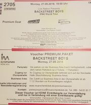 2x Backstreet Boys VIP-Tickets Premium-Pakete