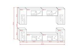 Wohnzimmerschränke, Anbauwände - Möbel Wohnzimmer Wohnwand Anbauwand Schrankwand