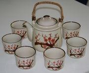 Schönes Tee-Service - 7teiliges Set - Geschirr -