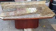 Wohnzimmertisch mit Beistelltisch Marmorplatten