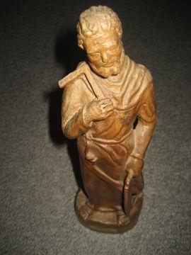 Sonstige Antiquitäten - Heiliger Josef Zimmermann Holz-Figur aus
