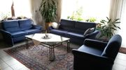 Couch-Garnitur 3-teilig blau