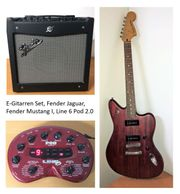 E-Gitarren Set Fender Jaguar Fender