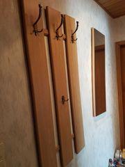 Garderobe inklusive Spiegel Eiche gebraucht