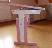 ABC Schreibtisch rosa weiß