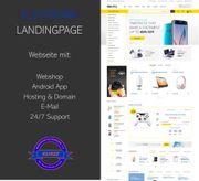 Webseite für Elektro- und Elektronikhandel