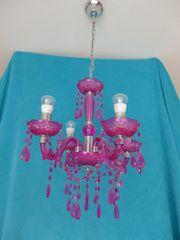 Deckenlampe Kronleuchter 4-flammig pink Mädchen -