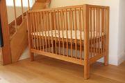 Babybett Gitterbett aus Erle