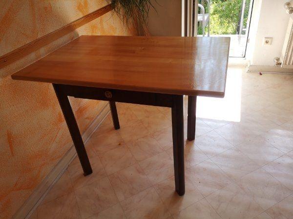 Tisch Holzplatte Holz Schublade Esstisch In Speyer Speisezimmer