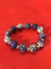 Echt schönes blau-weißes Armband