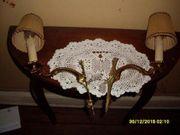 1Paar antike Wandlampen aus Messing