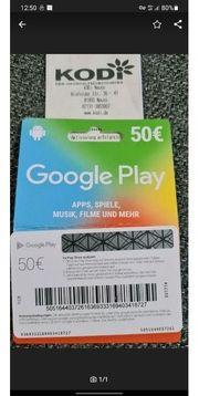 GooglePlay Karte im Wert von