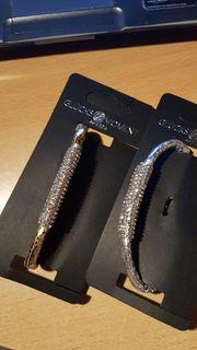 2 x Armband-goldfarben-silberfarben-Modeschmuck-NEU UND OVP