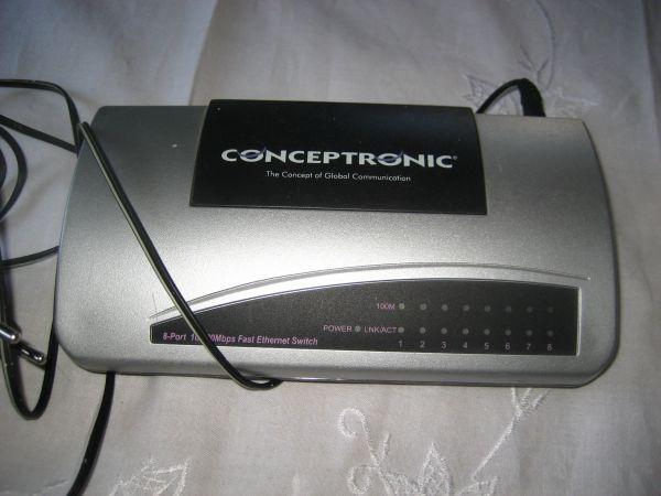 Conceptronic C100S8 Switch Fast 8xRJ45