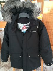 Winterjacke schwarz mit Kapuze Gr