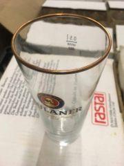 12x Paulaner Biergläser gold Helles