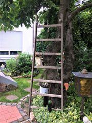 Dekoration Leiter Holzleiter Garten Industriedesign