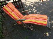 Deckchair Gartenliege aus massivem Holz