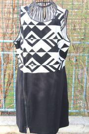 neuwertiges schwarz- weißes Kleid Gr