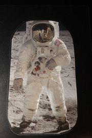 Lesezeichen selfmade Astronaut Lavendel Einstein